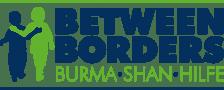 Between Borders Logo - zwei Kinder Hand-in-Hand und der Schriftzug